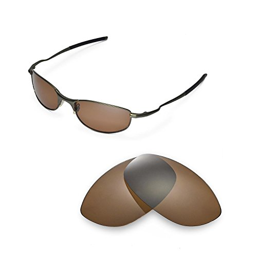 Walleva Replacement Lenses for Oakley Tightrope Sunglasses-Multiple Options Available (Brown - ()