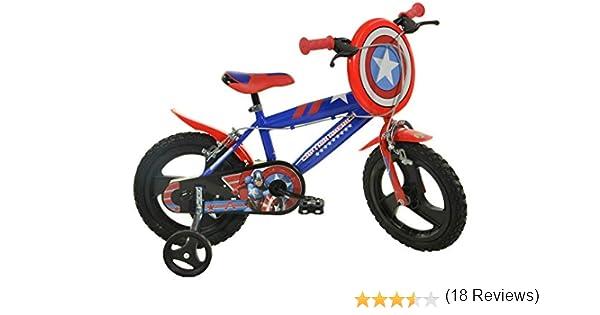 Dino Bikes Captain America Infantil Unisex Ciudad Metal Azul, Rojo ...