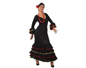 Desconocido Disfraz negro de sevillana para mujer: Amazon.es ...