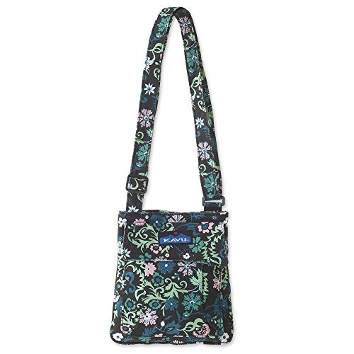 KAVU Mini Keeper Bag with Hip Crossbody Adjustable Purse Strap - Whimsical Meadow