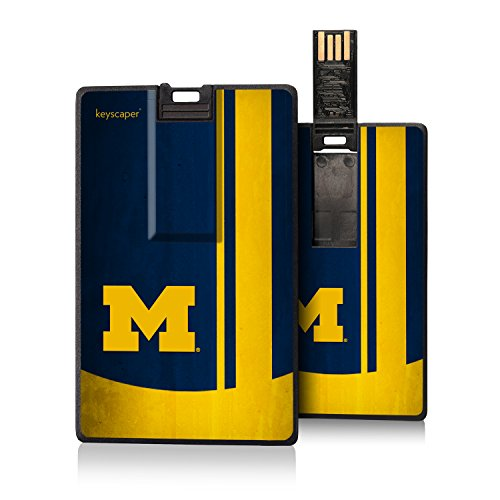 Michigan Wolverines 8GB Credit Card Style USB Flash Drive NCAA by Keyscaper