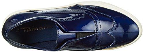 Tamaris 24605, Mocasines para Mujer Azul (NIGHT BLUE PAT 845)