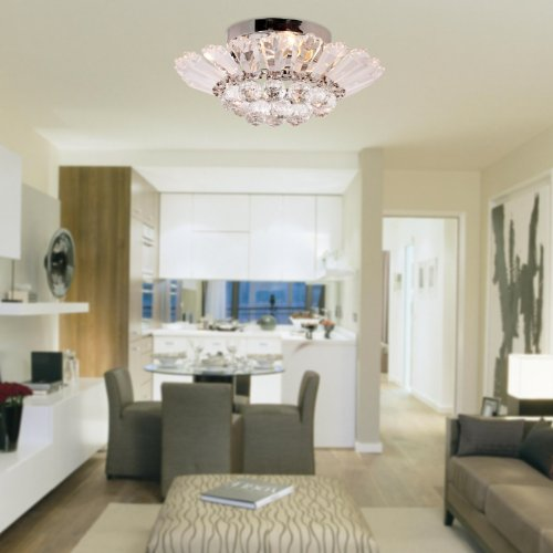 Lightinthebox modern semi flush mount in crystal feature home lightinthebox modern semi flush mount in crystal feature home ceiling light fixture chandeliers lighting for dining room bedroom living room close to mozeypictures Choice Image