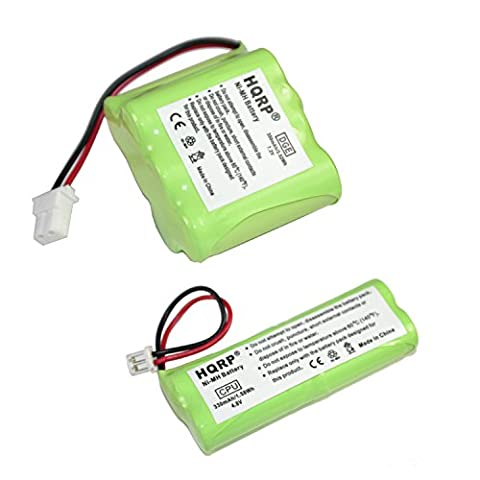 HQRP Battery Kit for Dt-Systems EDT-100, EDT-102, EDT-200, EDT-202, EDT-300, EDT-302 Remote Controlled Dog Training Collar Receiver and Transmitter + - 302 Training