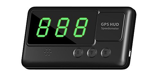 Oxygentle Universal Car HUD Head-up Display GPS Speedometer with Overspeed Alarm Tired Driving Warning Windshield Project for All Vehicle