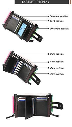 Card funzione Black Zip Gli Borsa card Uomini Multi Capacità brown Grande Holder Multi Corto Coin Shining Portafoglio Per Kids YAfWSSF