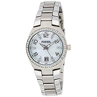 Fossil Damen Analog Quarz Uhr mit Edelstahl Armband AM4141 7