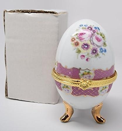 Huevo de cerámica caja de joyero