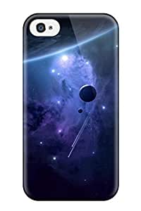 Ernest Burke Perfect Tpu Case For Iphone 4/4s/ Anti-scratch Protector Case (planet With Moon)