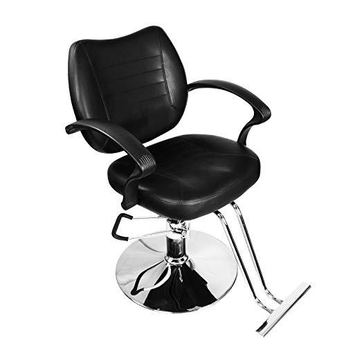 (Black Classic Hydraulic Barber Chair Styling Salon Beauty)