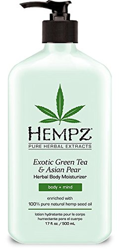 Hemp Oil Lotion (Hempz Exotic Herbal Body Moisturizer, Green Tea and Asian Pear, 17 Fluid Ounce)