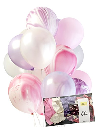 Creative Unicorn Agate Mix Latex Party Decoration Marble Balloon 30 x 3.2g Thick 12