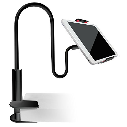 Tablet Cellphone Stand Holder, AFUNTA Gooseneck Lazy Bracket for 4-7.2 Inches iPhone iPad GPS Samsung LG Blackberry Devices,360 Degree Rotating,27.5