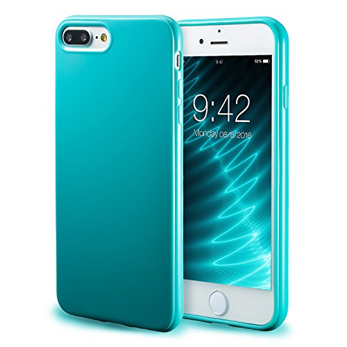 iPhone 7 Plus Turquoise Case/iPhone 8 Plus Turquoise Case, technext020 Shockproof Ultra Slim Fit Silicone TPU Soft Gel Rubber Cover Shock Resistance Protective Back Bumper for iPhone 7 Plus / 8 Plus