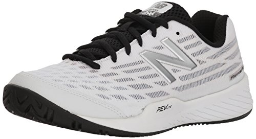 Out Shoes Court Cut (New Balance Women's 896v2 Hard Court Tennis Shoe, White/Navy, 8.5 B US)