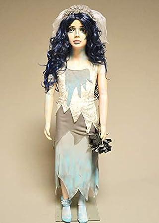 Disfraz de Novia de cadáver de Halloween para niños Medium (5-6 ...