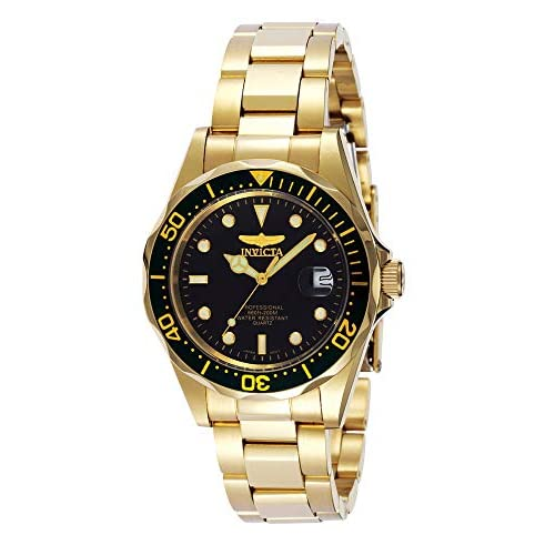 Invicta Men's Pro Diver 37.5mm Gold Tone Stainless Steel...