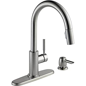 Delta Faucet Trinsic Single Handle Kitchen Sink Faucet