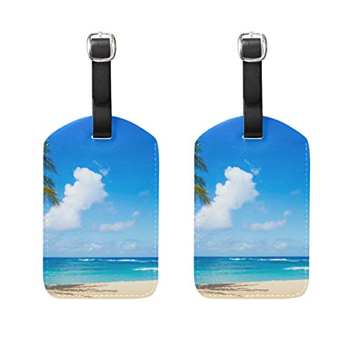 Luggage Tags Hawaii Beaches For Family Fun Womens Bag Suitcase Tags Holder traveling accessories Set of 2