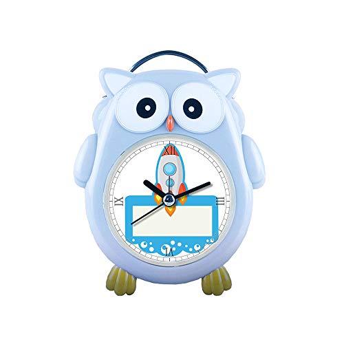 Alarm Clock Silent Non-Ticking Cartoon Quartz Loud Alarm Clock, Cute, Backlight, Personality Pattern owl- 365.Rocket, Spaceship, Clip Art, Clipart ()