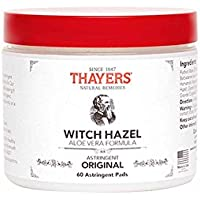 Thayers Witch Hazel Astringent Pads w/ Aloe Original 60-Count + $5 Gift Card