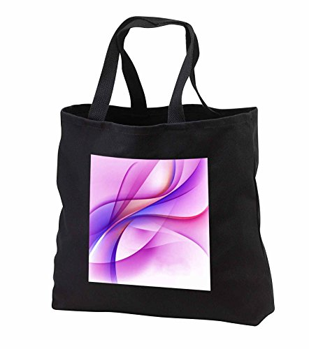 Price comparison product image Anne Marie Baugh - Abstract - Contemporary Pink, Purple, and Blue Swirly Abstract Streamers - Tote Bags - Black Tote Bag 14w x 14h x 3d (tb_251716_1)