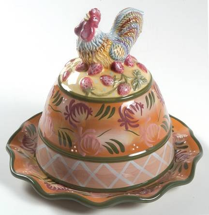 Chanticleer Covered Cheese Plate by Dana Cullen