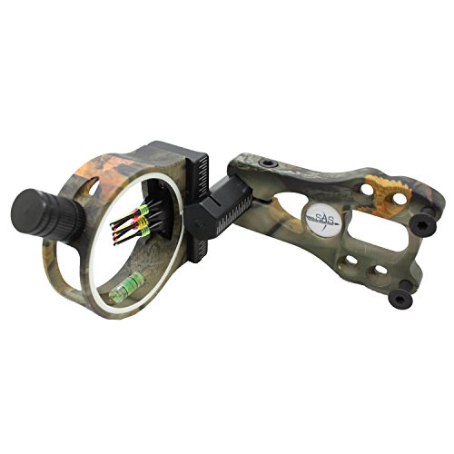 Southland Archery Supply SAS 5-Pin .029 Fiber Optics Bow Sight with LED Sight Light