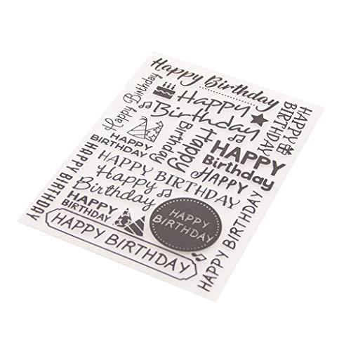 ZHENXI Plastic Embossing Folder Template DIY Scrapbook Photo Album Card Making Decoration Crafts Happy ()