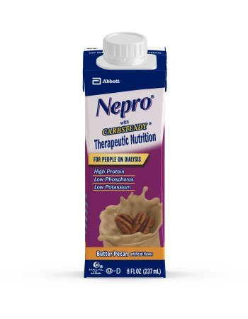 Nepro with Carb Steady Complete Nutrition, Butter Pecan, Case of 24 Containers Complete Balanced Nutrition Shakes Butter