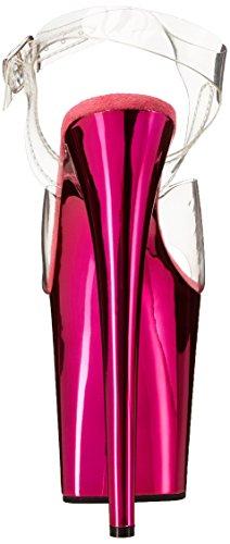 de Clr FLAMINGO Pleaser vestir Pink Chrome mujer H 808 para Sandalias aOUW1q