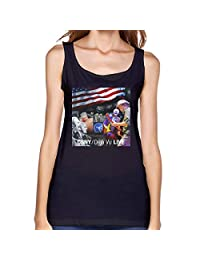 Ocido Crosby Stills Nash & Young Classic Tank Tops for Girls Black