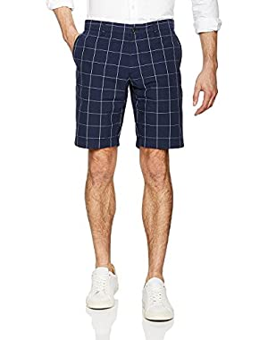 Lacoste Men's Men's Blue Net Print Cotton Bermuda Shorts in Size 42 Blue