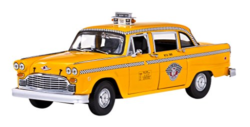 Taxi Cab Diecast Model - Checker Taxi Cab New York Die Cast Model - LegacyMotors Scale Model...