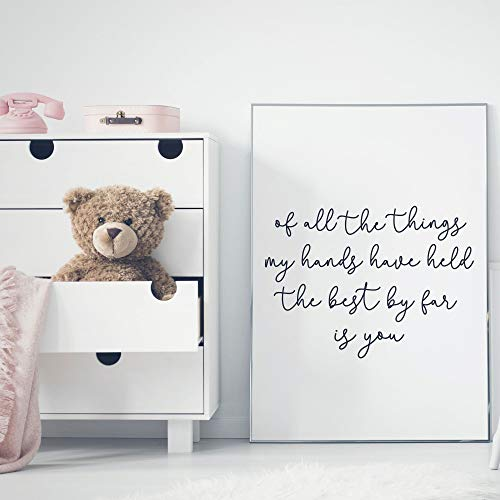 of All The Things My Hands Have Held The Best by Far is You Sign Wooden Wall Decor Sign Nursery Sign Sign for Above Crib Kids - Crib Aloha Baby