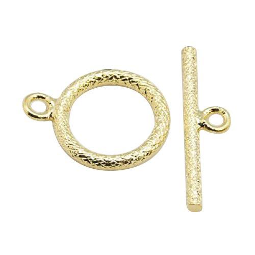 Pandahall 2 Sets 20mm Golden Brass Bar & Ring Toggle Clasps (Brass Toggle Bar)