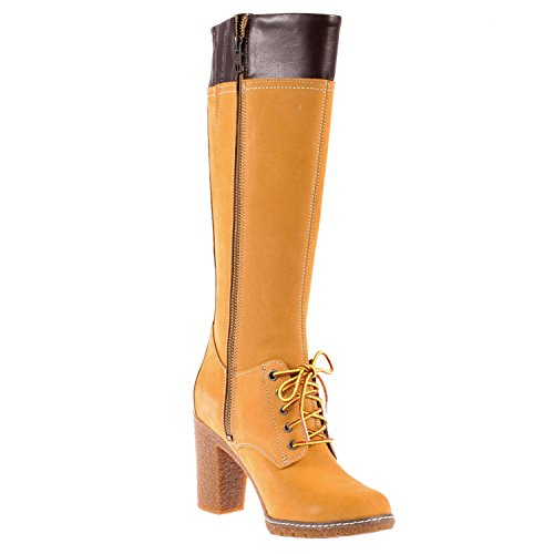 Glancy Stivali uk Zip Tall Wheat 5 Timberland Donna Lace With 6 qyH70CHE4w