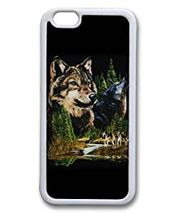Custom Case with Wolf Graphic DIY Back Snap On Case for iPhone 6 4.7 TPU Black