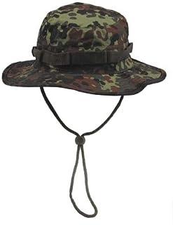 armyoutdoorshop MFH Boonie Hat Flecktarn Australian cespuglio Cappello Tropici Cappello a Tesa Cappello a Tesa Larga con Band S-XL