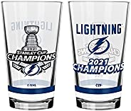 The Sports Vault NHL Tampa Bay Lightning 2021 Stanley Cup Champions Mixing Glass, 2-Pack, Clear, 16-Ounce