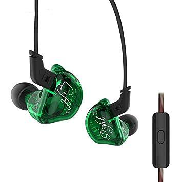KZZSR Auriculares in-ear con cable Hifi, auriculares estéreo de graves pesados con controlador