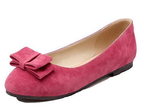 Allhqfashion Womens-toe No-heel Pu Solide Scarpe Da Ginnastica-scarpe Rosa