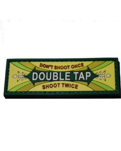 Double Tap Mint Morale Patch PVC with velcro back - Color