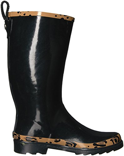 The Sak Women's Rhythm Rain Boot Black With Natural Leopard countdown package sale online F21ut