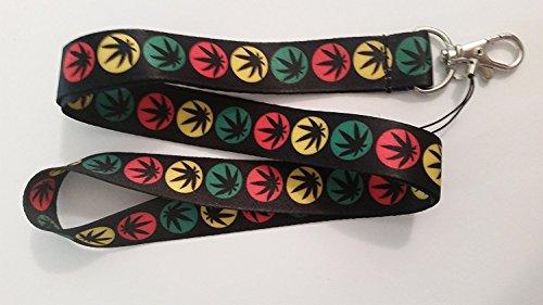 Marijuana Cannabis Weed Lanyard Keychain Holder