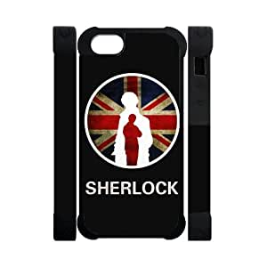Perfect Arts Hot Movie Sherlock Holmes In UK Flag Unique Custom IPHONE 5 or 5S Best Polymer+Rubber Cover Case