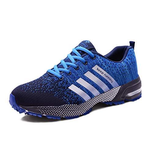 Moligin Running Shoes Men Women Athletic Fitness Tennis Sport Shoes Outdoor Lightweight Sneakers Blue
