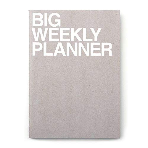 JSTORY Big Weekly Planner Undated Simple Customizable Eco Friendly Huge A4 54 Weeks 28 Sheets Gray