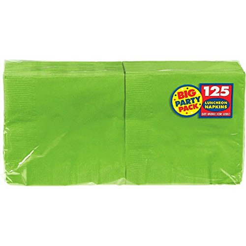 Best Price Amscan Big Party Pack 125 Count Luncheon Napkins, Kiwi