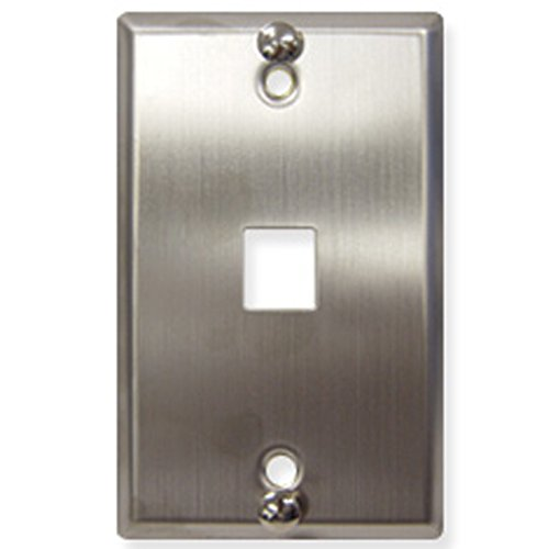 ICC WALL PLATE- PHONE- FLUSH- 1-PORT- SS / ICC-IC107FFWSS /